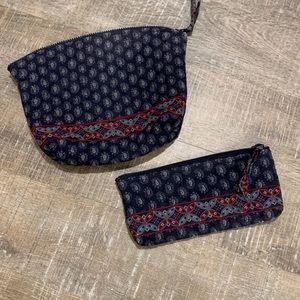 Vera Bradley Small Cosmetic Travel Bag Set